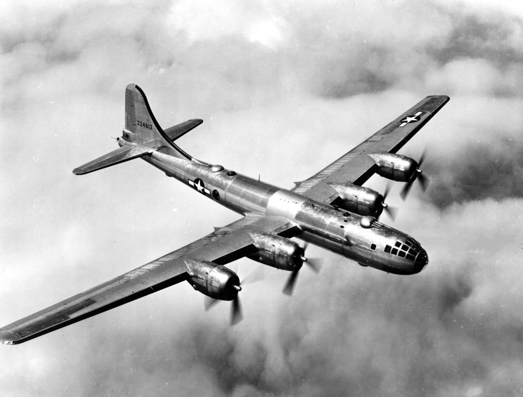 flying Boeing B-29 Superfortress