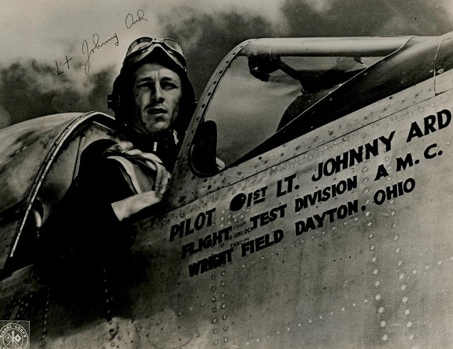 John Ard, as Test Pilot in Write Field, Dayton, Ohio.