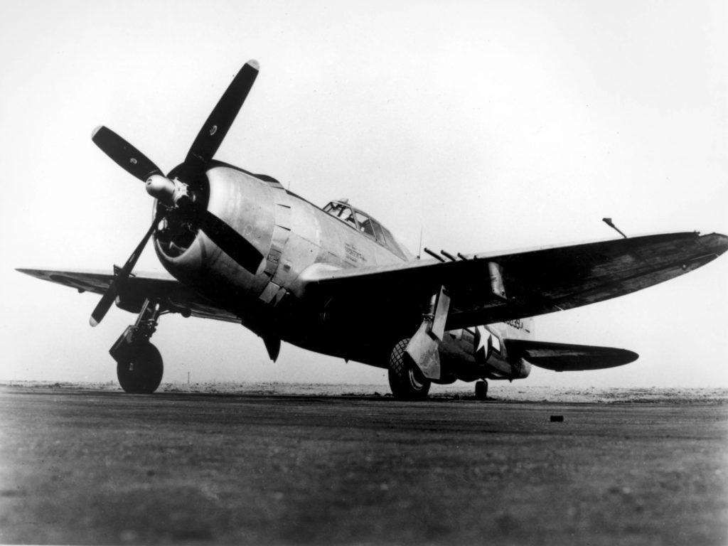 parked Republic P-47 Thunderbolt