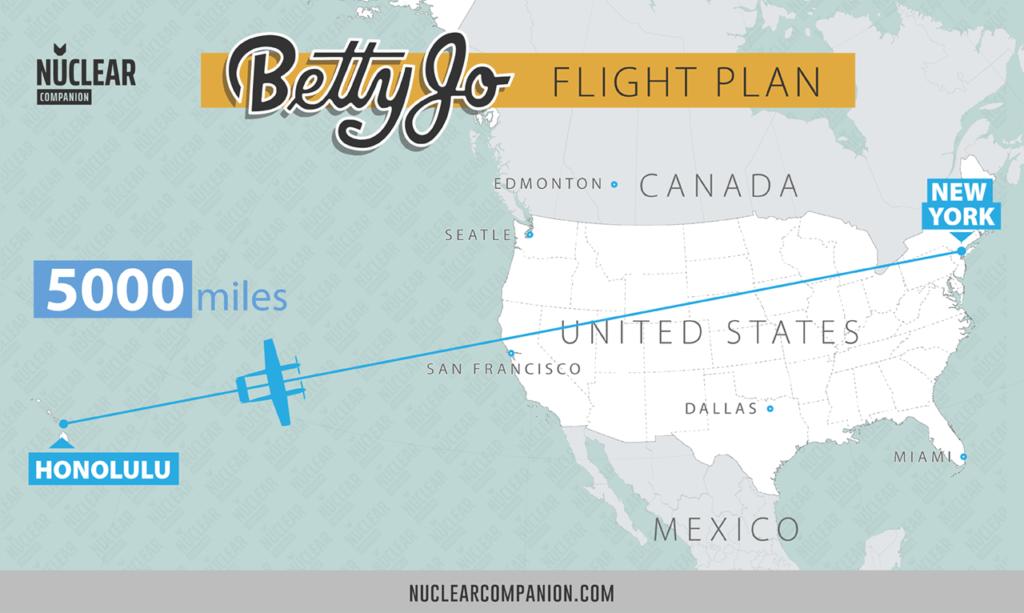 Betty Jo Flight Plan from Hawaii to New York
