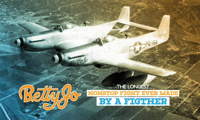 Betty Jo: The longest nonstop flight ever made by a fighter