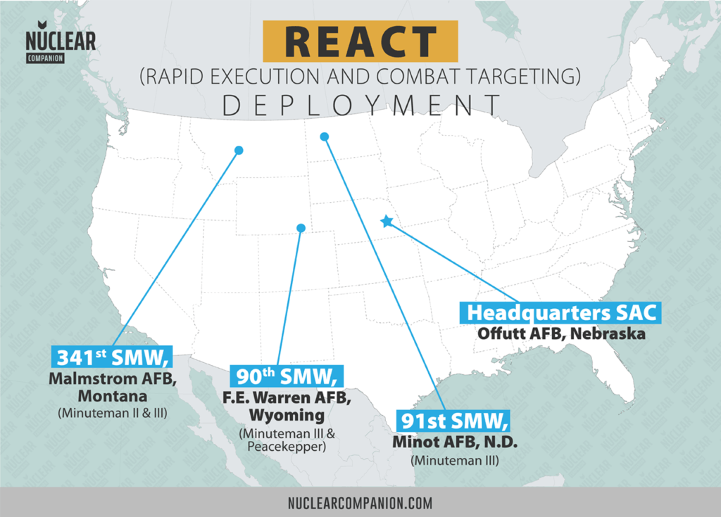 Minuteman REACT Deployment map