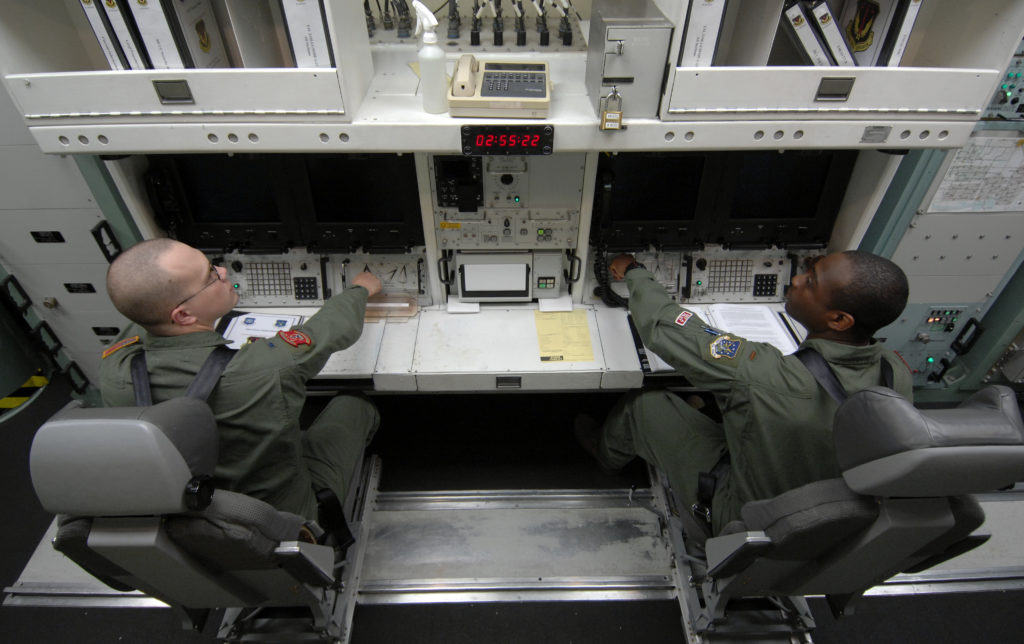 Activating cooperatives switches at the missile procedure trainer