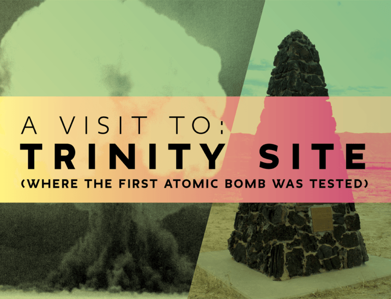 A visit to Trinity Site (where the first atomic bomb exploded )