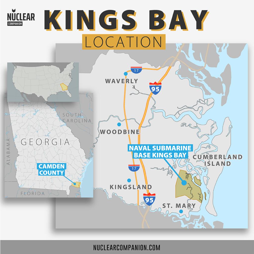 Naval Submarine Base Kings Bay location map
