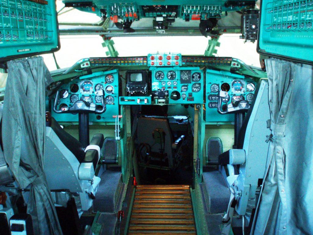 The cabin of the Tu-142MR