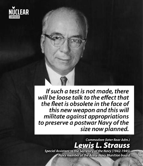 Lewis Strauss operation crossroads quote