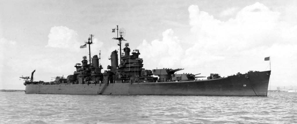 USS Fall River at Bikini