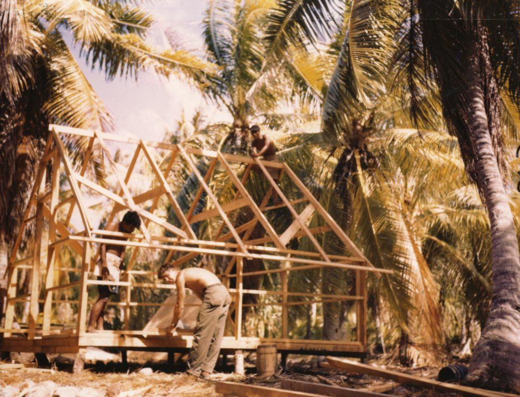 Rongerik wooden house construction operation crossroads