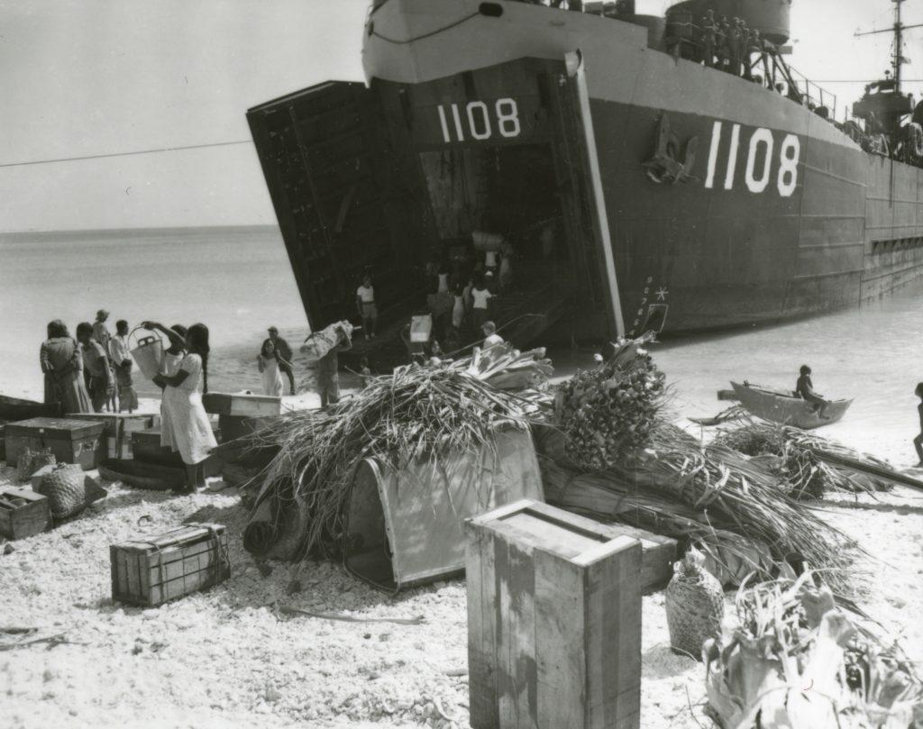 bikini Natives Loading belongings Into LST-1108