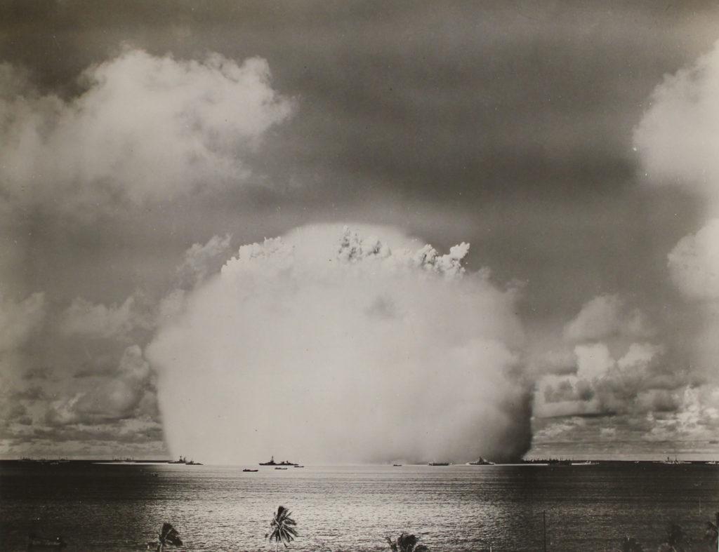 operation crossroads able shot atomic cloud