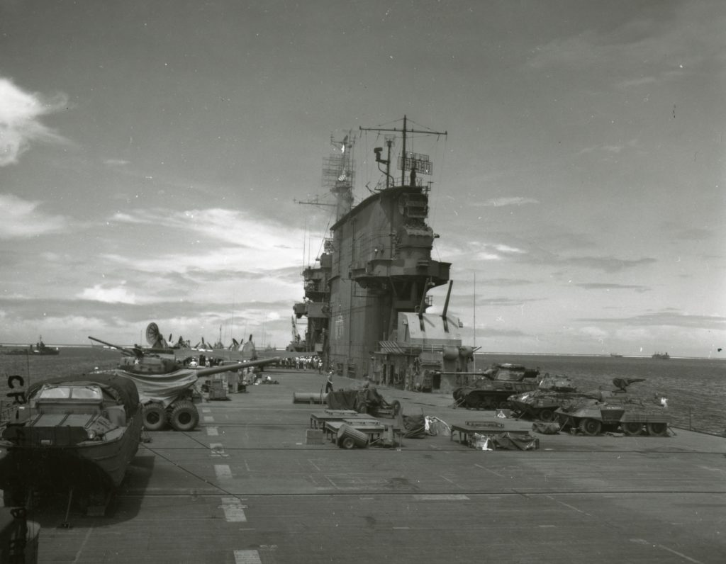operation crossroads USS saratoga deck