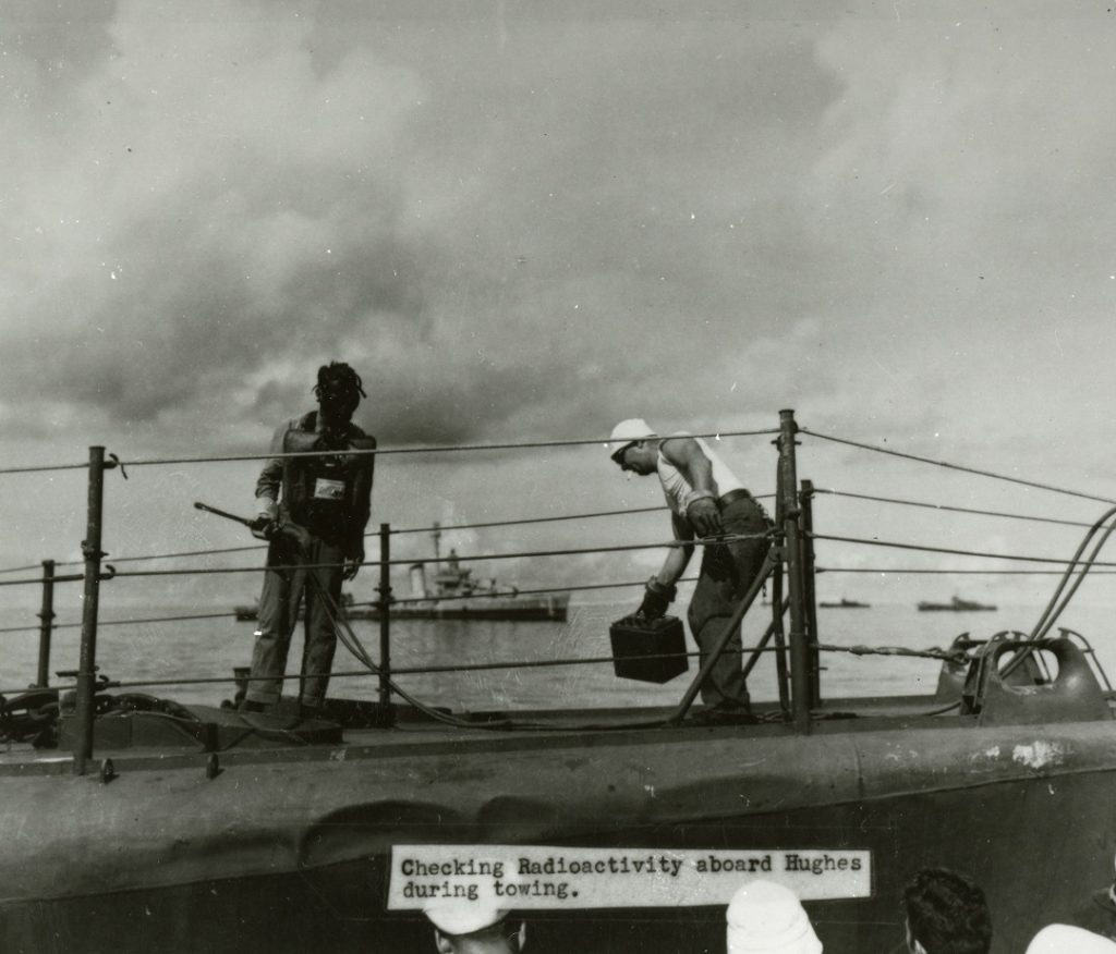 Operation crossroadsa checking radioactivity