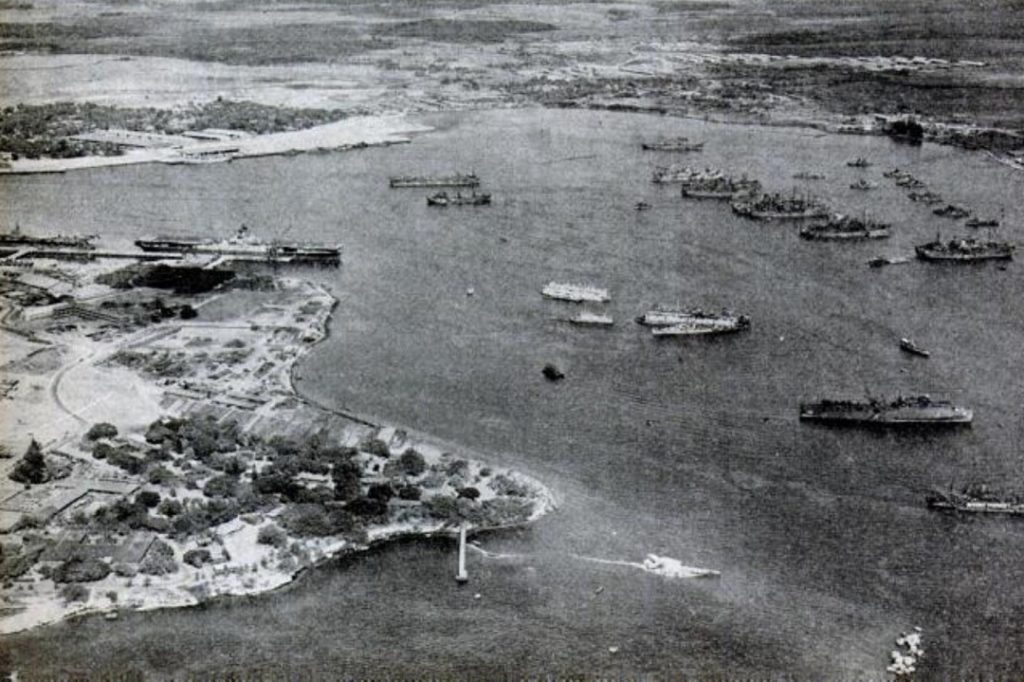 Operation Crossroads target and support fleet in Pearl Harbor