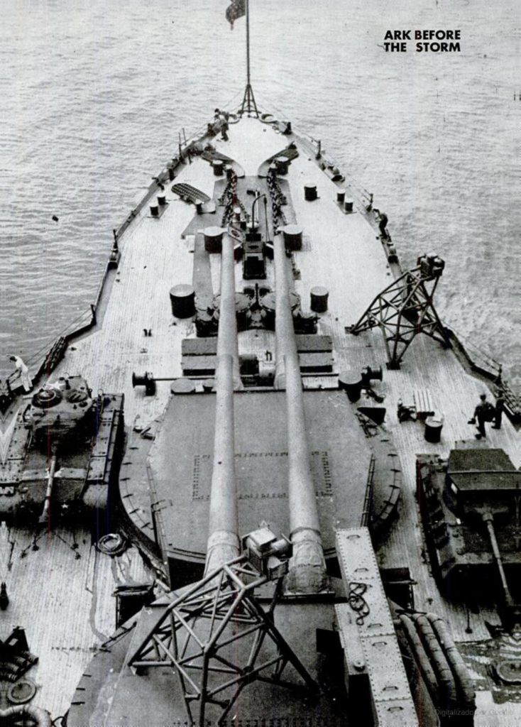 tanks aboard USS Arkansas in preparatio of Operation Crossroads