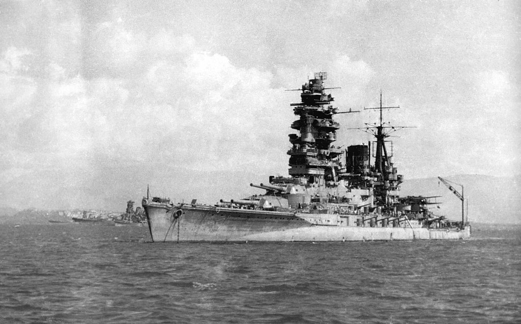 Battleship Nagato brunei 1944